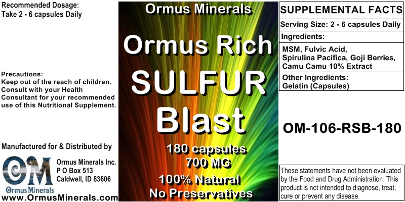 Sulfur Supplement